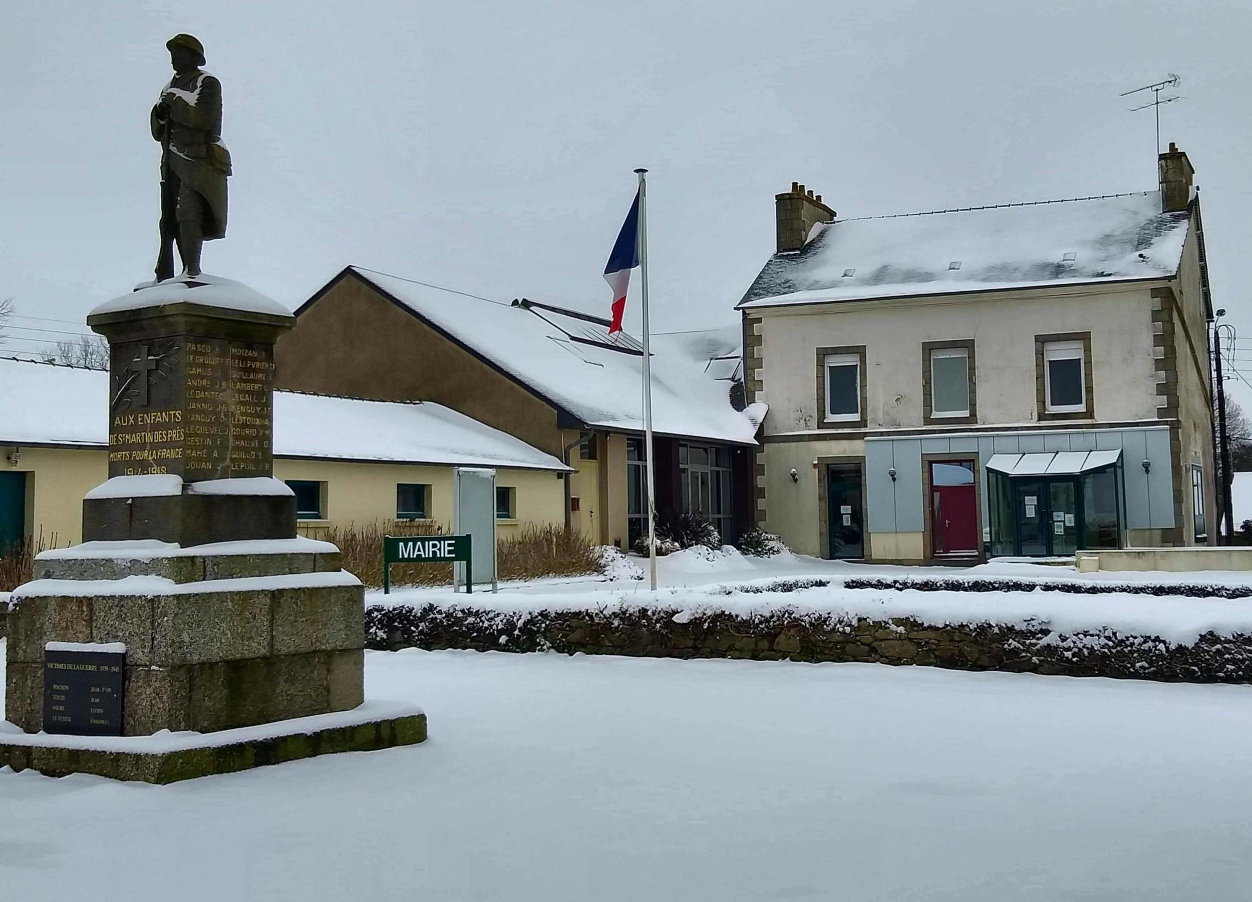 La neige à Saint-Martin-Des-Présfevrier 2021