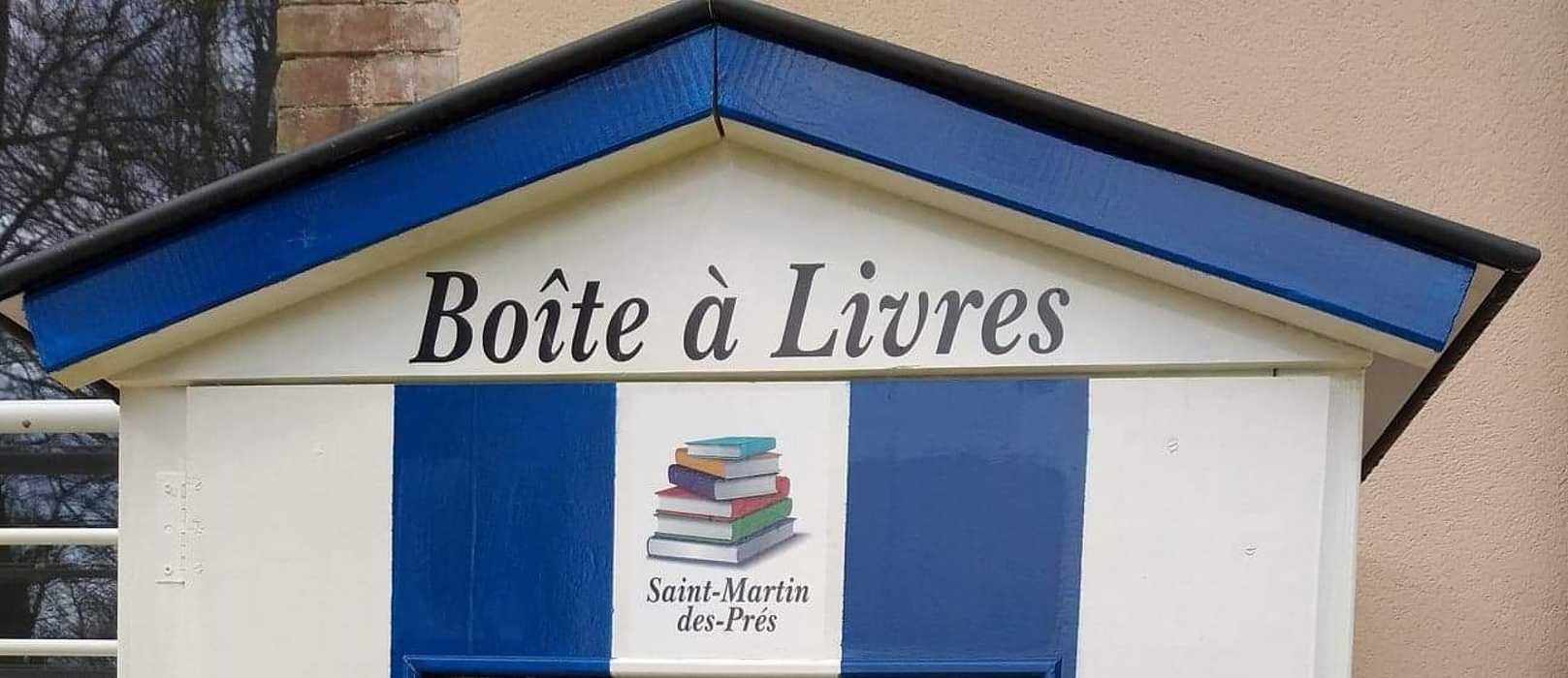 """Boîte à livres et consignes """"Covid"""" -St Martin des Prés 0"""