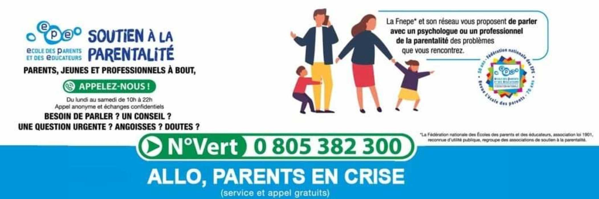 """ALLÔ PARENTS EN CRISE - COVID 0"