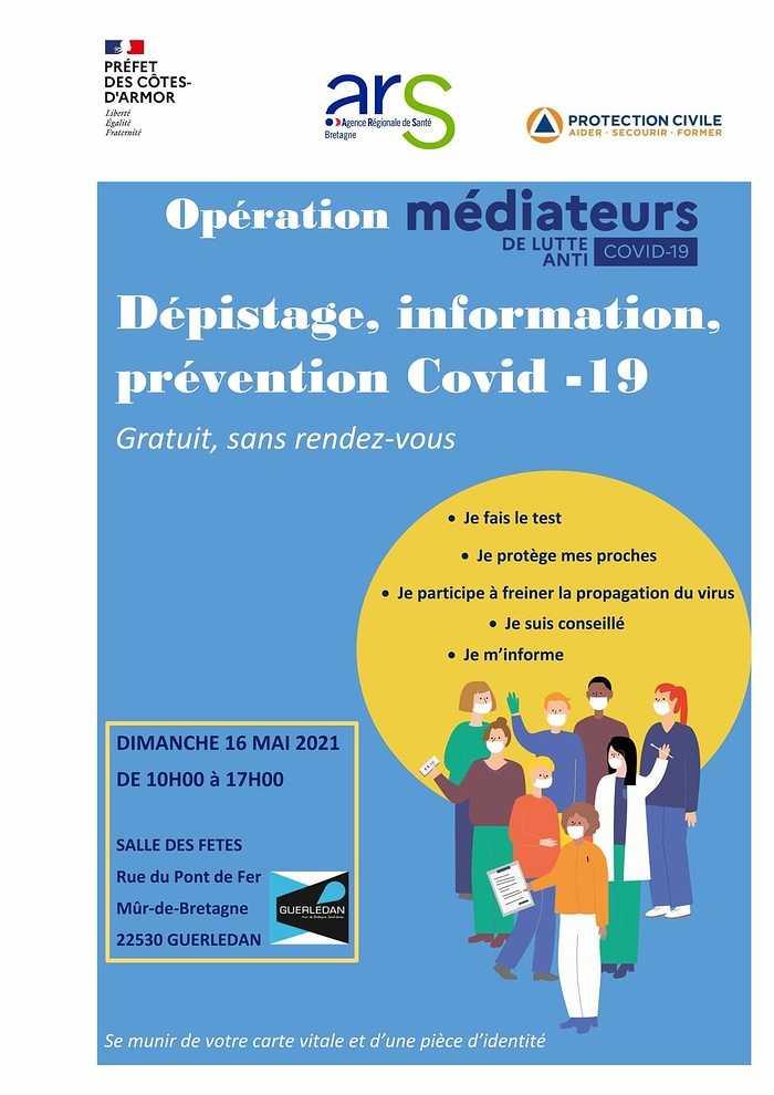 Opération COVID 19 à GUERLEDAN LE DIMANCHE 16 MAI 2021 0
