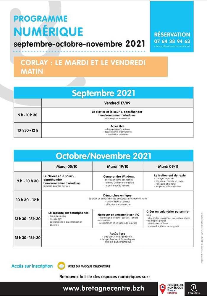 Planning ateliers numériques 0